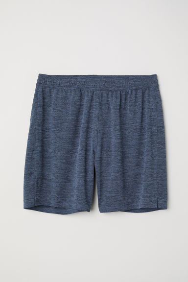 Sports shorts - Grey-blue marl - Men | H&M