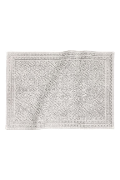 Jacquard-weave bath mat - Light grey - Home All | H&M CN