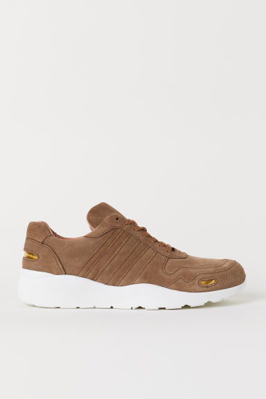 Suede trainers - Light brown - Men | H&M CN