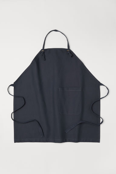 Canvas apron - Anthracite grey - Home All | H&M CN
