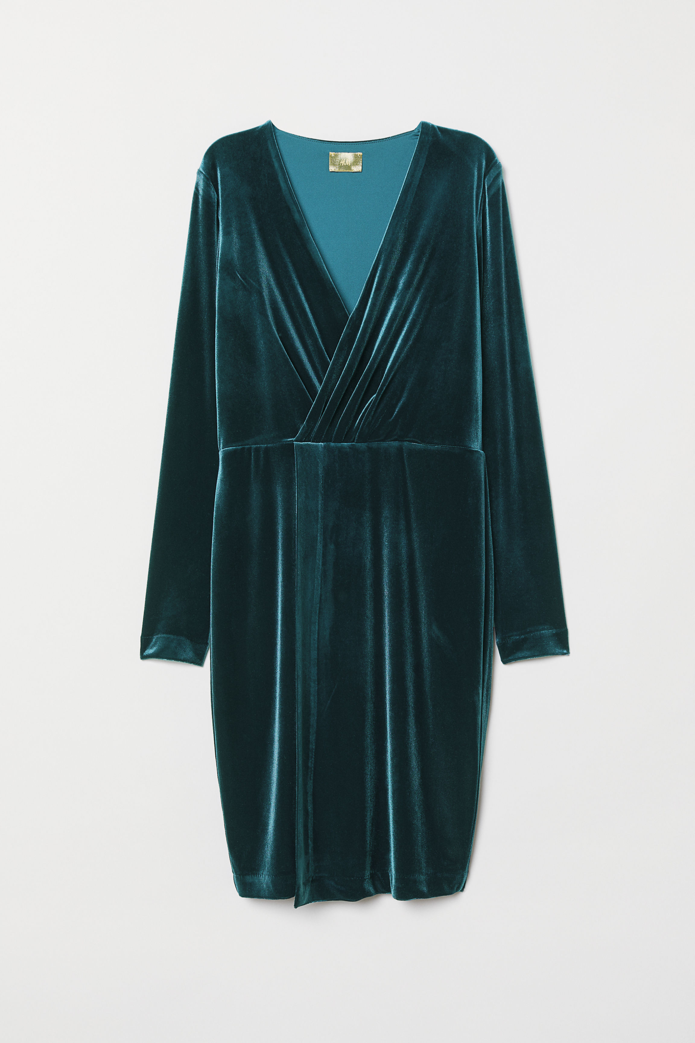 9cc392631418b Velour Dress - Teal - Ladies | H&M US
