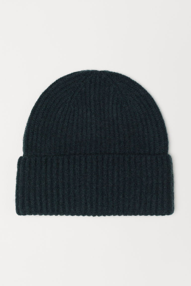 Cashmere-blend hat - Dark green - Ladies | H&M CN