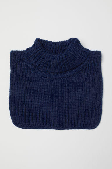 Knitted polo-neck collar - Dark blue - Kids | H&M