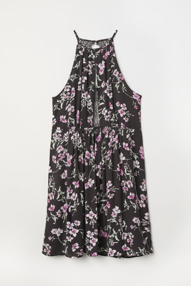 H&M+ Sleeveless dress - Black/Floral - Ladies | H&M