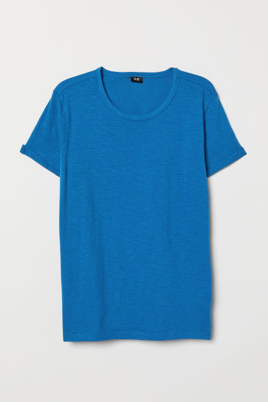 Tricot T-shirt - Blauw - HEREN | H&M BE