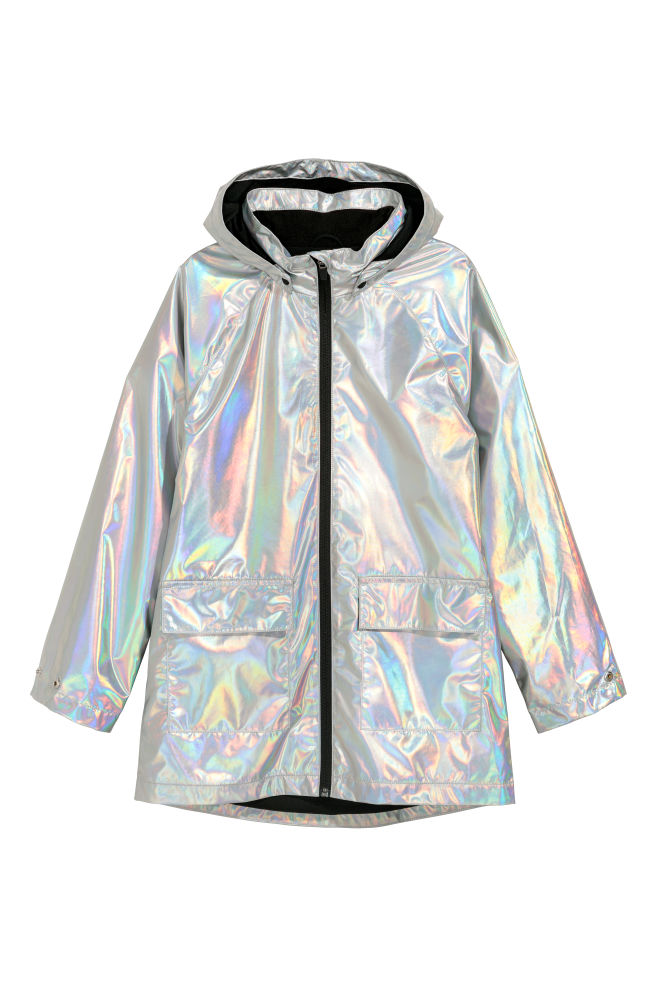 16e3aff84bb Shimmering Rain Jacket - Silver-colored - Kids | H&M ...