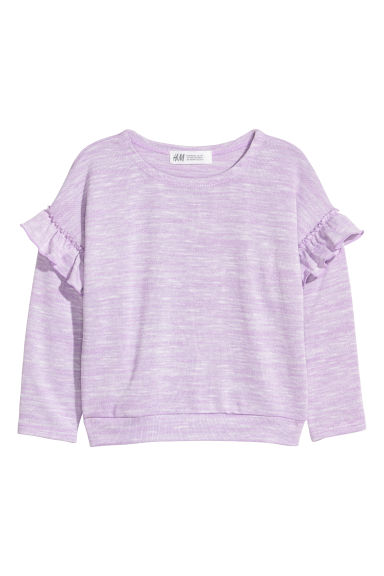 Jumper with frills - Light purple -  | H&M