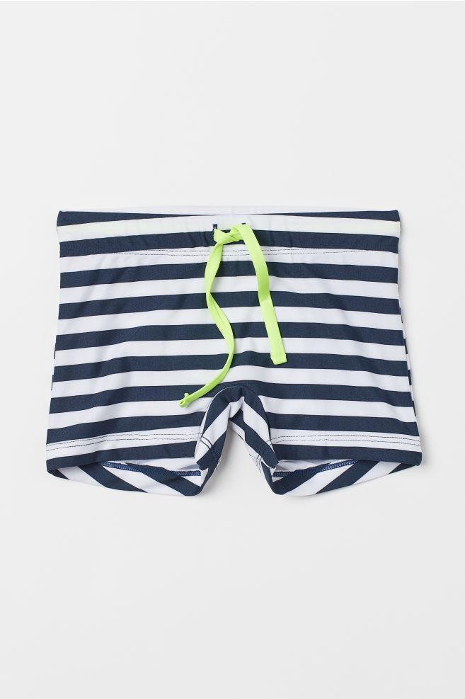 042aae2d99 Swim Trunks - Dark blue/white striped - Kids | H&M ...