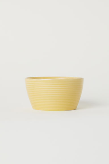 Textured bowl - Yellow -  | H&M CN