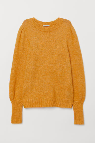 Knit Wool-blend Sweater - Yellow - Ladies | H&M US