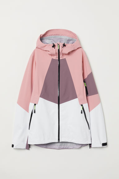 Shell Ski Jacket - Pink/color-block - Ladies | H&M CA