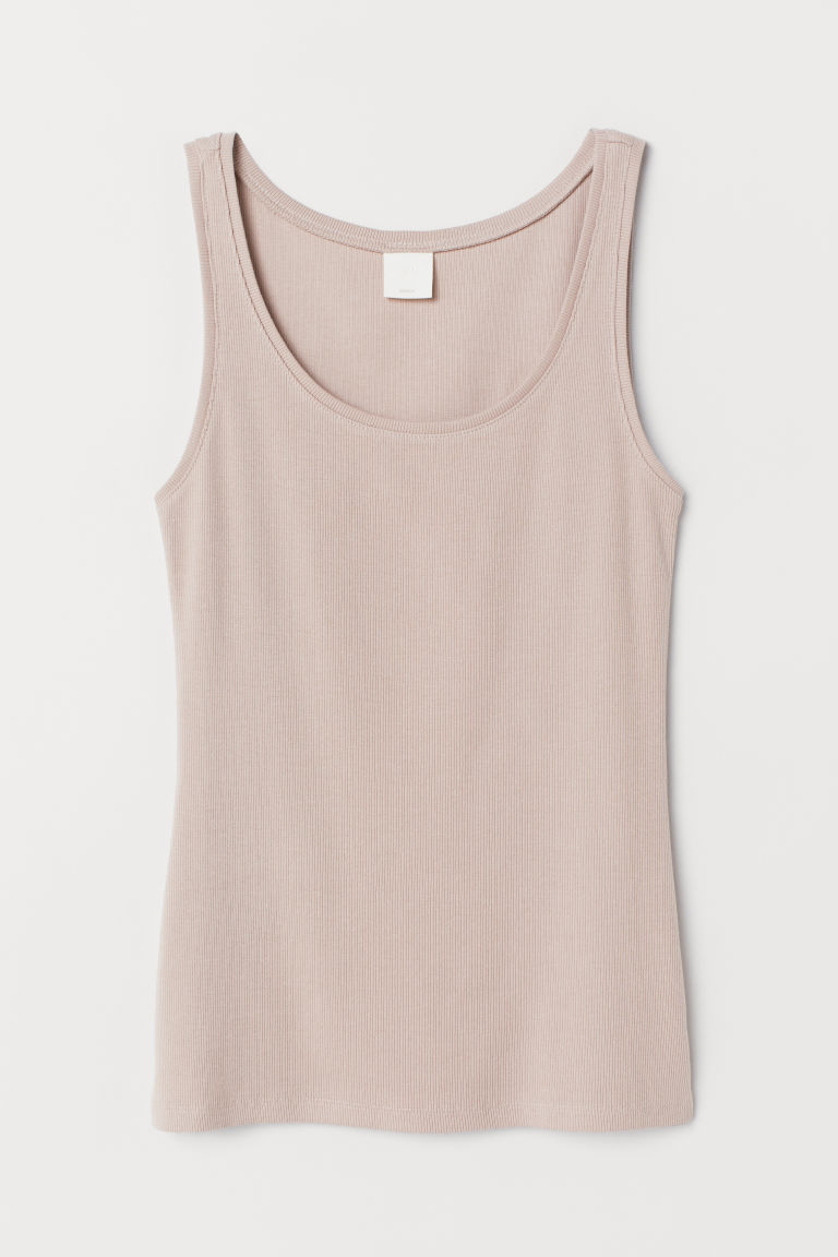 Tricot tanktop - Beige - DAMES | H&M BE