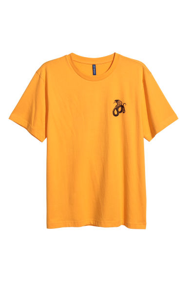 Printed T-shirt - Bright yellow/Snake - Men | H&M CN