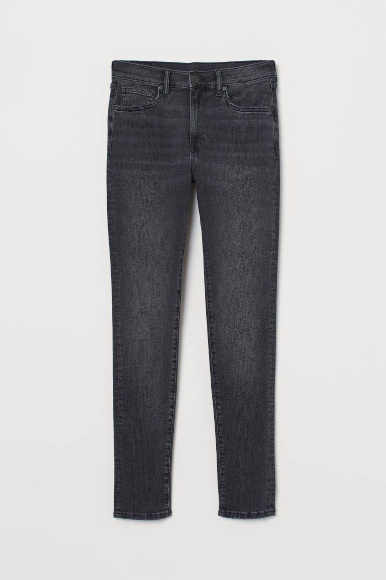 Skinny Jeans - Noir washed out - HOMME | H&M BE