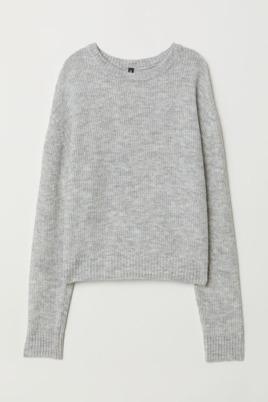 Knit Sweater - Light gray melange -  | H&M US