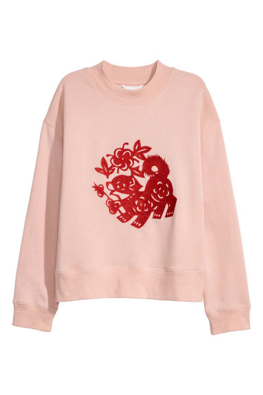 Appliquéd sweatshirt - Old rose - Ladies | H&M