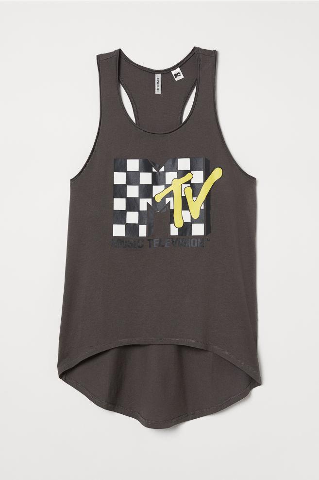 dabf283134ca5 ... Vest top - Dark grey MTV - Ladies