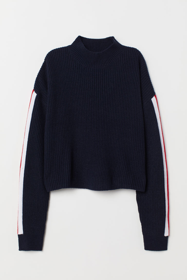 Pullover a lupetto - Blu scuro -  | H&M IT
