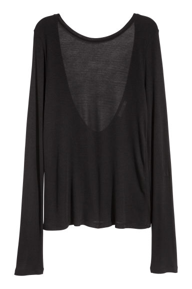 Top with a low-cut back - Black - Ladies | H&M
