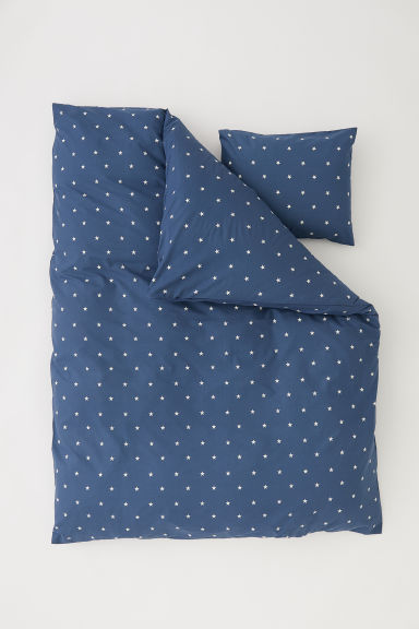 Set copripiumino con stelle - Blu scuro/stelle - HOME | H&M IT