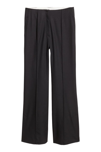 Pantaloni da tailleur in lana - Nero - DONNA | H&M IT