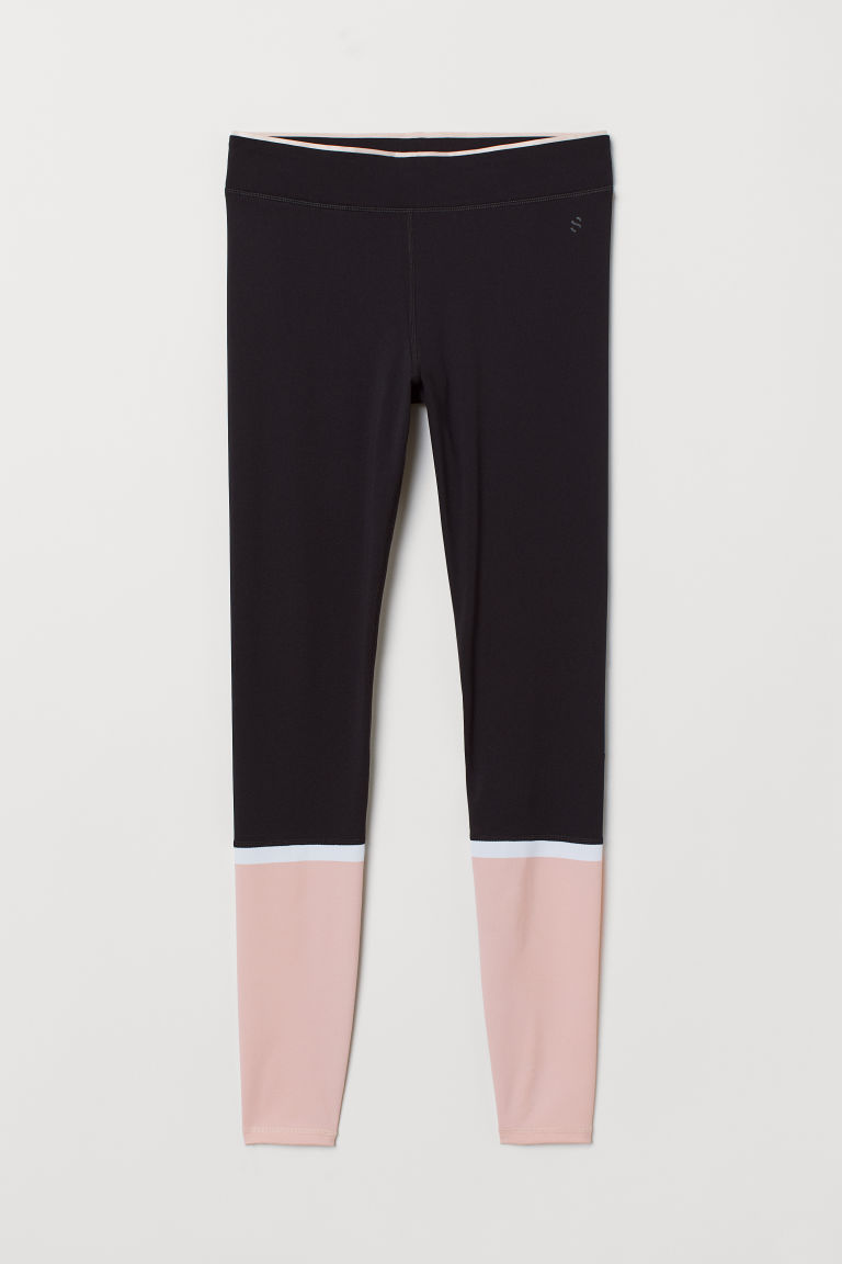Compression Fit running tights - Black/Pink - Ladies | H&M CN