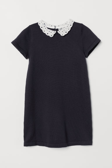 Fine-knit dress - Dark blue - Kids | H&M