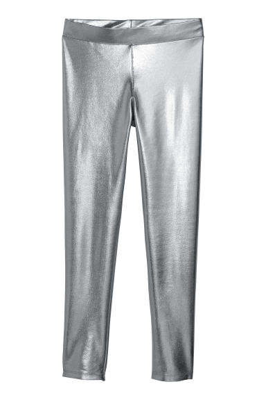 Leggings in jersey con stampa - Argentato/metallizzato -  | H&M IT