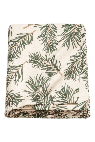 Christmas-print tablecloth - Natural white/Pine needles - Home All | H&M GB
