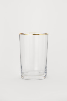 Glass with Gold-colored Rim