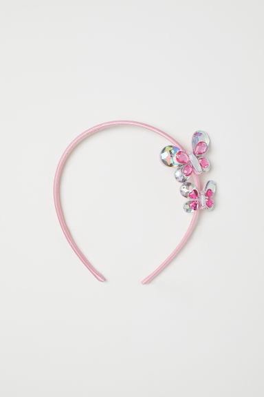 Alice band with butterflies - Light pink/Butterflies - Kids | H&M CN