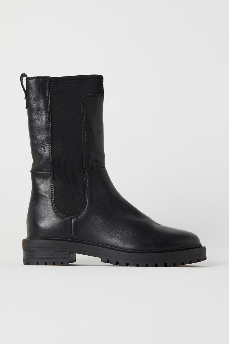 Leather boots - Black - Ladies | H&M IN