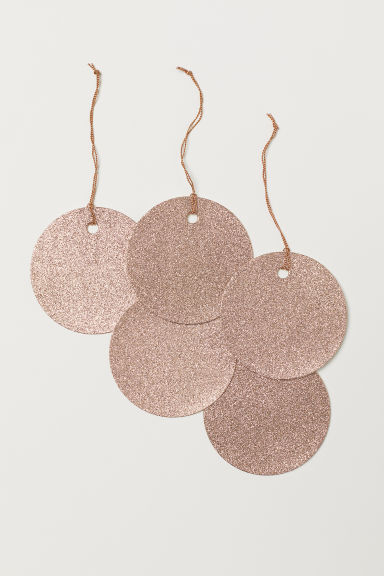 Gift tag - Gold-coloured/Glitter - Home All | H&M CN