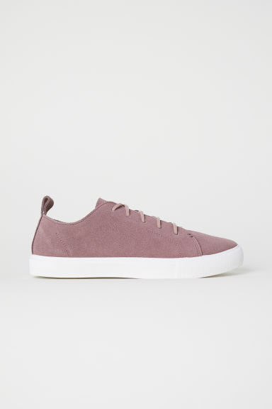 Suede trainers - Dark pink - Ladies | H&M