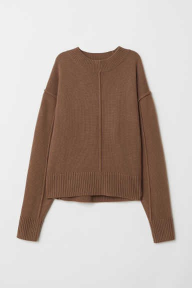 Knit Wool Sweater - Camel - Ladies | H&M US
