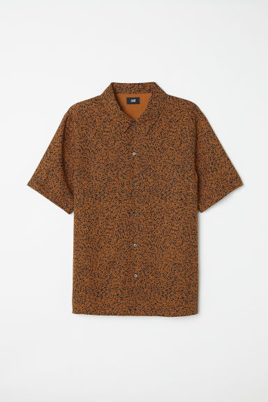 Lyocell shirt Regular Fit - Brown/Black patterned -  | H&M CN