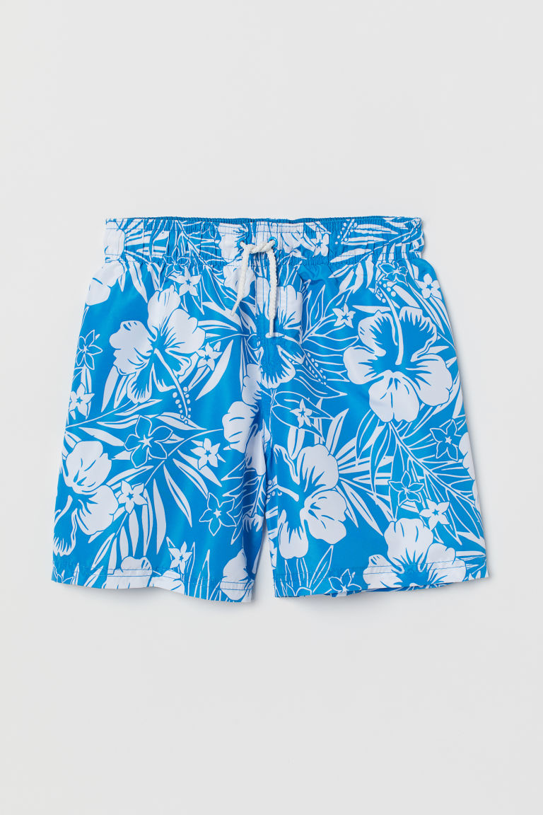 Swim shorts - Blue/Floral -  | H&M