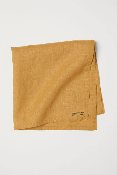Washed Linen Napkin - Mustard yellow - Home All | H&M CA
