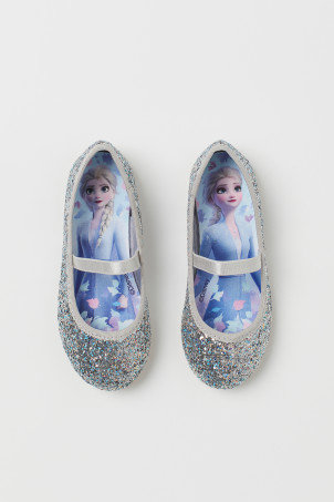 Printed ballet pumps