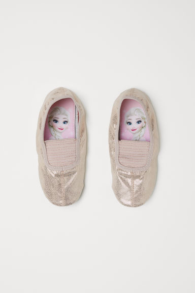 Glittery dance shoes - Gold-coloured/Frozen - Kids | H&M