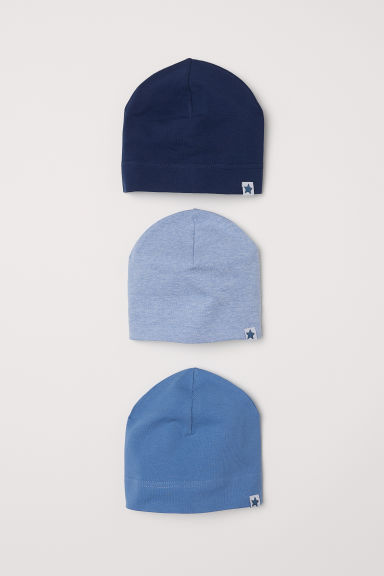 3-pack jersey hats - Dark blue - Kids | H&M