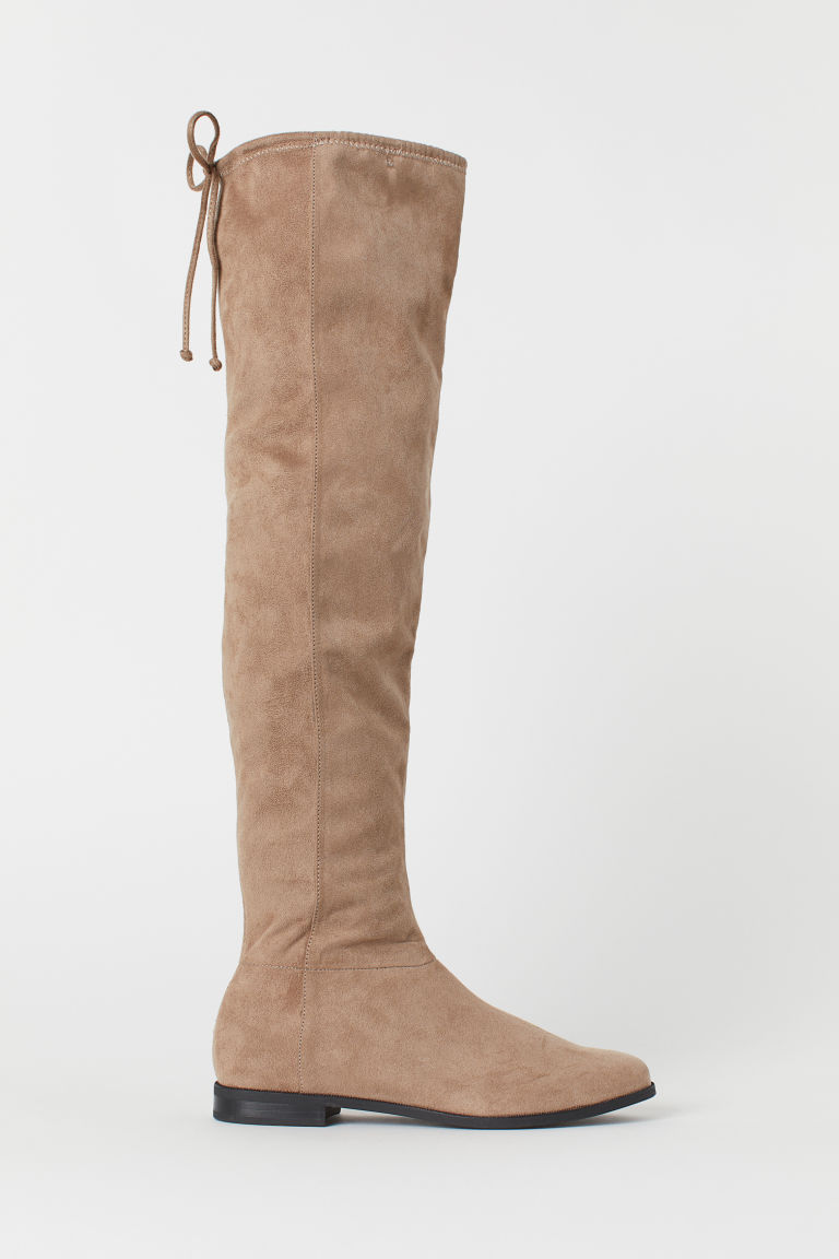 Knee-high boots - Beige - Ladies | H&M CN