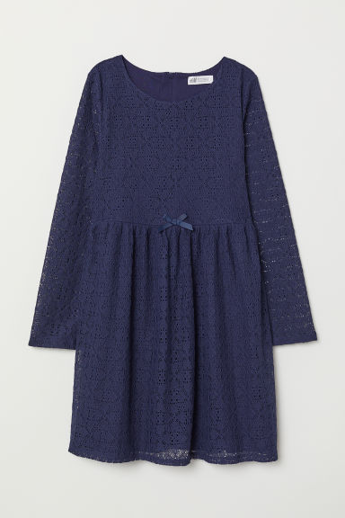 Lace dress - Dark blue - Kids | H&M