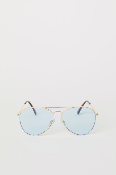 Sunglasses - Light blue/Gold-coloured - Ladies | H&M