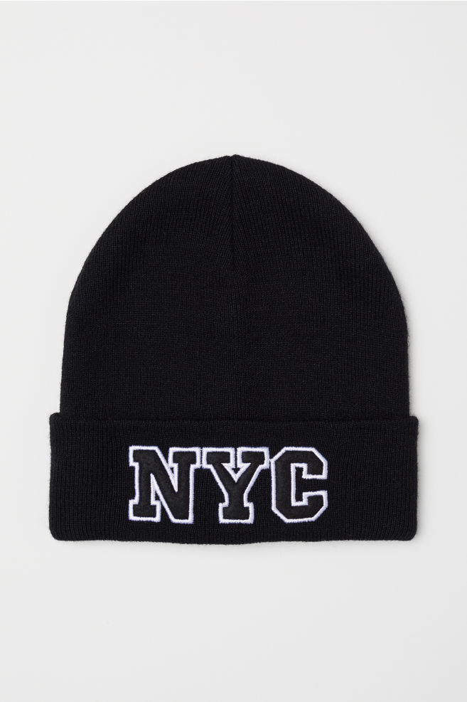 Knit Hat - Black NYC -  4ae5a490774