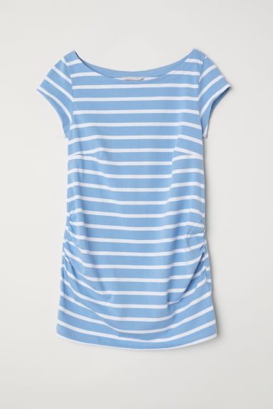 MAMA Jersey top - Light blue/White striped -  | H&M