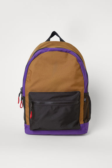 Backpack with a laptop sleeve - Brown/Multicoloured - Men | H&M