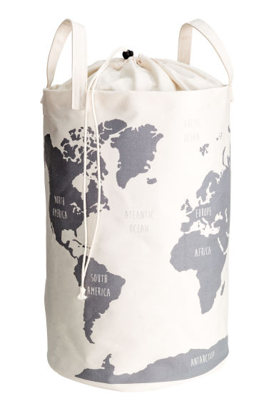 World map storage basket - White - Home All | H&M IE