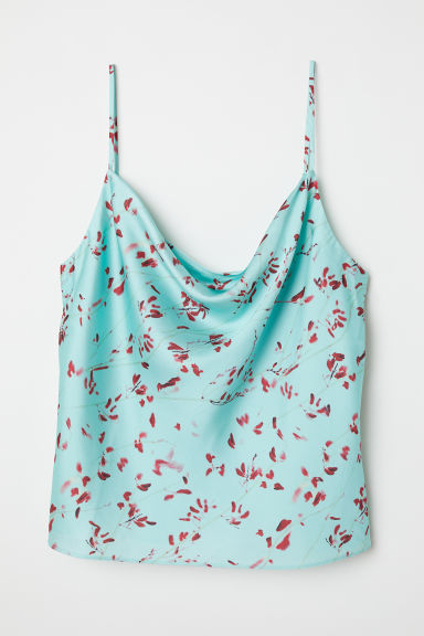 Sleeveless top - Mint green/Floral - Ladies | H&M