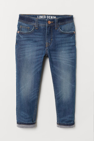 Tapered Fit Lined Jeans